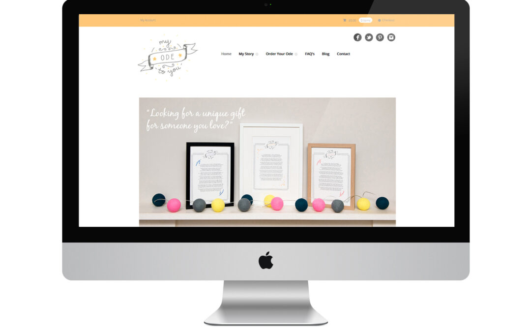My Ode to You Website