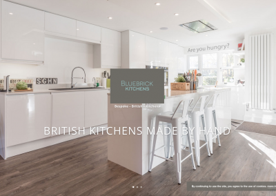 Brand Identity and Website Bluebrick Kitchens