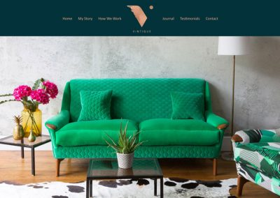 Web design for Vintique Upholstery