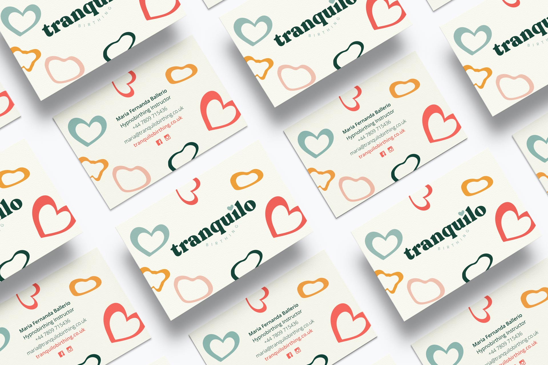 Tranquilo Birthing Business cards